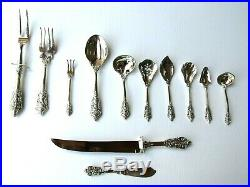 Vintage FB Rogers Grand Antique Silver Plate Flatwear 108 Piece Set for 16 NEW