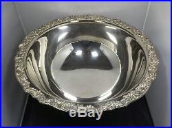 Vintage FB Rogers Large Silverplate Punch Bowl, Ladle & 12 Cups