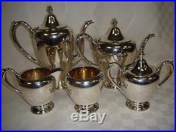 Vintage F. B. ROGERS STERLING silver Coffee Tea Creamer & 2 Sugar Sets 1,595 grams
