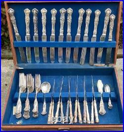 Vintage Grape Rogers 1904 Flatware Forks Knives Demitasse Spoons Partial Set 62
