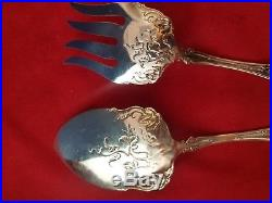 Vintage Grape Silverplate by 1847 Rogers Pie / Pastry and Lg. Serving Fork #3710