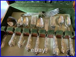 Vintage Lot Of 1847 Rogers Bros Heritage Silverware Flatware Silver Box Set