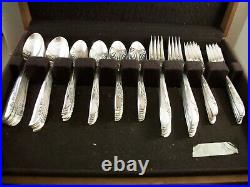Vintage Oneida Rogers 1881 Silverware Set Lilac Time 80 pieces Table Setting 12