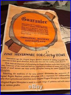 Vintage Original Rogers Deluxe Plate Precious 26 Piece Fine Silverware& 2 Bonus