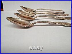 Vintage ROGERS BROS. 1847Assyrian Head Demitasse Spoon 4-1/4-5 Spoons