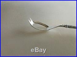 Vintage Rogers International Silverplate Olive Spoon Vintage Pattern Grapes 8.5