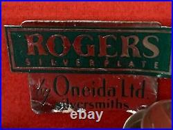 Vintage Rogers Oneida Silverplate Flatware Silverware Set 98-Piece Mixed Set