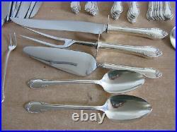 Vintage Rogers REMEMBRANCE 81pc silver plate flatware set service for 12