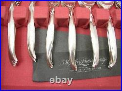 Vintage Set 1847 Rogers Flair Silverplate Flatware 54 pcs svc for 8 withBox