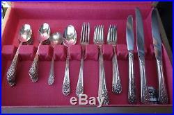 Vintage Set of Wm. Rogers Silver-plated Flatware Silverware Pattern Jubilee 1953