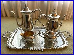 Vintage Silver Tea and Coffee Set - Oneida Wm A Rogers