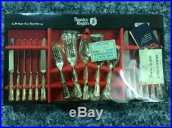 Vintage Stanley Rogers 44 Piece Silver Plate Table Setting Kings Pattern