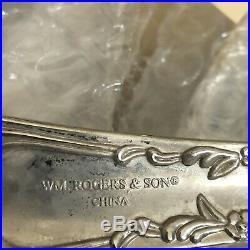 Vintage Wm Rogers & Son Enchanted Rose Silverplate Set