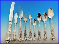 Vintage by 1847 Rogers Silverplate Flatware Set for 12 Service 114 Pieces Grapes