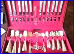 Vintage silver plate flatware WM A Rogers A1 Plus Onedia service for 12