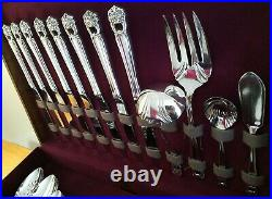 Vtg 1847 ROGERS BROS ETERNALLY YOURS Service for 8 SILVERPLATE SET 86 PCS 1941