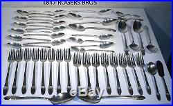 Vtg 1847 Rogers Bros Is First Love Flatware Silverware Silver Plate 73 Piece