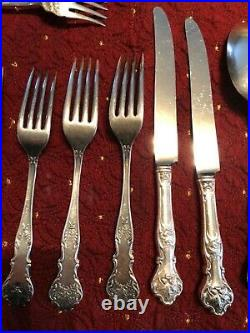 Vtg 1847 Rogers Bros XS Triple Silver Plated Charter Oak 18 Piece Collection