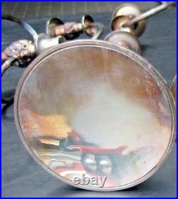 Vtg 1847 Rogers Brothers Candelabra Heritage 9416 3 Candle Holder Silver Plate