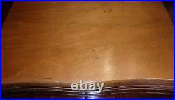Vtg Rogers & Son EXQUISITE 1940 85 Piece SilverPlate Flatware Set-Original Chest