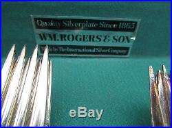 WM ROGERS SPRING FLOWER FLATWARE SET with ORIGINAL BOX Cir 1956