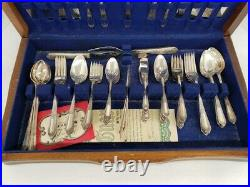 WM Rogers 1937 Cotillion Silverware with Case