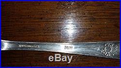 WM Rogers 1937 Hiawatha Pattern Silver Flatware Set S Monogrammed