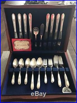 WM Rogers Silverplate Flatware Set for 8 Beloved Pattern 1940