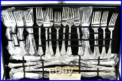 WM Rogers & Son 12 PLACE SETTINGS Silver Plated FLATWARE 60 PC 1008