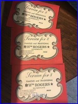 WM Rogers Vintage Silver plate Flatware Set + Original Case