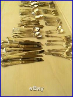 W. A. Rogers Silver Overlaid Oneida LTD. Silverware Flatware 136 Pcs
