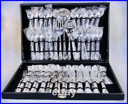 William Rogers & Son Silverplate 63 Piece 12 Place Setting Enchanted Rose Unused