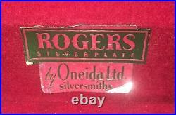Wm A Rogers 1930 Silver Plate A1PLUS Oneida Ltd 52 Piece Floral Silverware