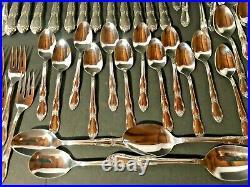 Wm A Rogers Oneida Fenton Set 65-Pieces Silverware Service for 12