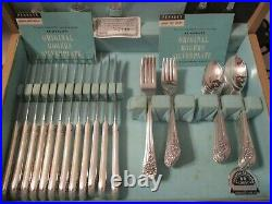Wm Rogers AA JUBILEE Silverplate Service for 12 + 5 Serving Pieces 65 pieces