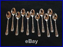 Wm Rogers And Son Silverplated Flatware Pattern Enchanted Rose In Silver