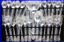 Wm Rogers Enchanted Rose Silverplated Flatware 63 pc