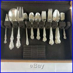 Wm Rogers Mfg 1939 Extra Silver Plate Flatware Original Rogers 58 Pieces Set EUC
