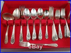 Wm Rogers Mfg Co 1953 Jubilee Silverplated Flatware Set 57 Pieces Lot