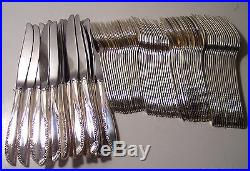 Wm Rogers Oneida silverplate 86pc Brittany Rose 5pc service 17 1948 NEW unused