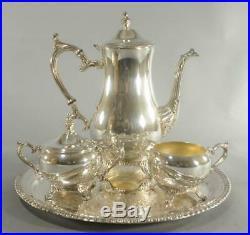 Wm Rogers Silverplate Coffee / Tea Set 3-Pc Set And Tray #800-3-871 Unused