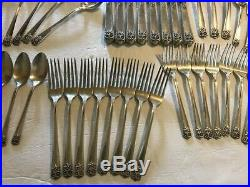 Wm Rogers & Son APRIL International Silver Plate 1950 Silverware setting for 8