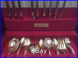 Wm rogers silverplate flatware set April